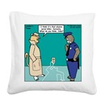 Curiosity Killed the Cat Square Canvas Pillow