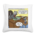 Cat and Mouse Square Canvas Pillow