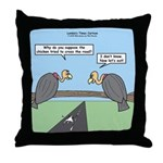 Impatient Buzzards Throw Pillow