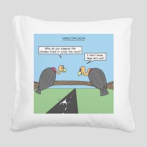 Impatient Buzzards Square Canvas Pillow