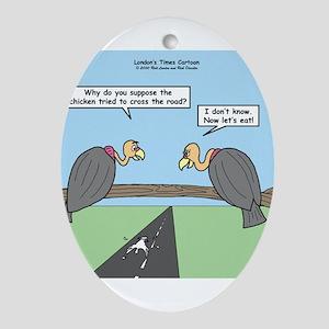 Impatient Buzzards Ornament (Oval)