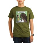 Buffalo Roaming Charges Organic Men's T-Shirt (dar