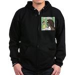 Buffalo Roaming Charges Zip Hoodie (dark)
