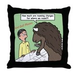Buffalo Roaming Charges Throw Pillow