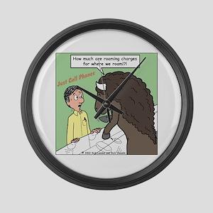 Buffalo Roaming Charges Large Wall Clock