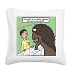 Buffalo Roaming Charges Square Canvas Pillow