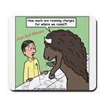 Buffalo Roaming Charges Mousepad