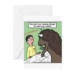 Buffalo Roaming Charges Greeting Cards (Pk of 10)