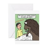 Buffalo Roaming Charges Greeting Card