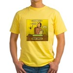 Black Widow Spider Dating Yellow T-Shirt
