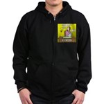 Black Widow Spider Dating Zip Hoodie (dark)