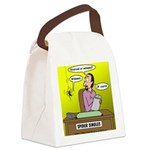 Black Widow Spider Dating Canvas Lunch Bag