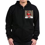 Bear Clause Zip Hoodie (dark)