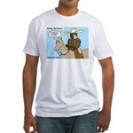 Bear Back Riding Fitted T-Shirt