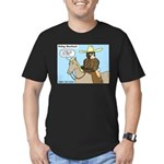 Bear Back Riding Men's Fitted T-Shirt (dark)