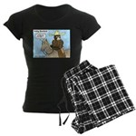 Bear Back Riding Women's Dark Pajamas