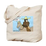 Bear Back Riding Tote Bag