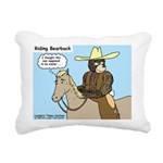 Bear Back Riding Rectangular Canvas Pillow