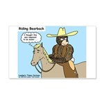 Bear Back Riding 20x12 Wall Decal
