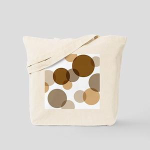 Brown Spots & Dots Abstract Tote Bag
