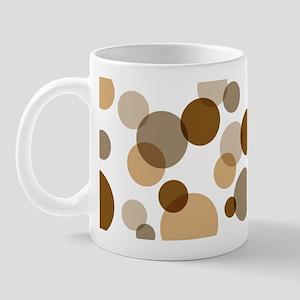 Brown Spots & Dots Abstract Mug