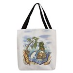 Green Man and Dolphin 082017 Polyester Tote Bag