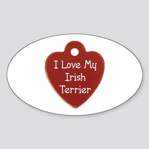 Terrier Tag Oval Sticker