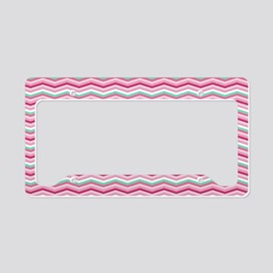 Trendy Chevron Pattern License Plate Holder