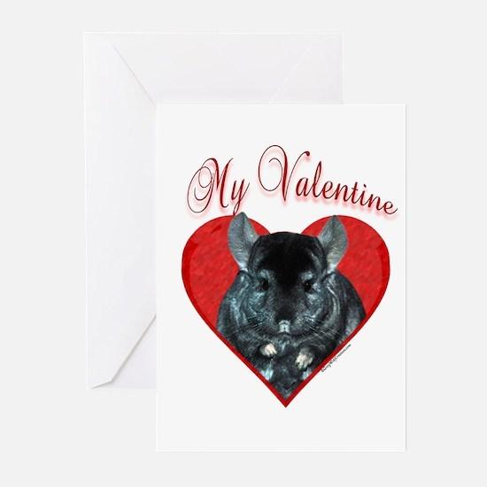 Chinchilla Valentine Greeting Cards (Pk of 10)