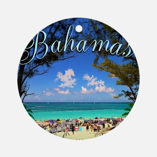 Bahamas Welcomes You Round Ornament