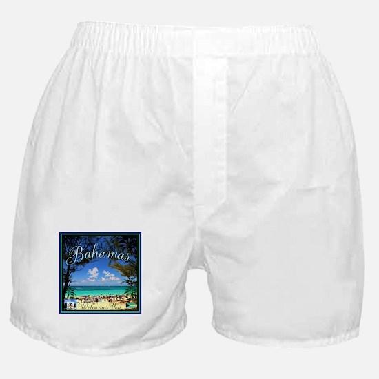 Bahamas Welcomes You Boxer Shorts