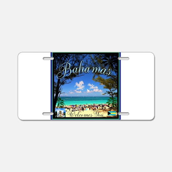 Bahamas Welcomes You Aluminum License Plate