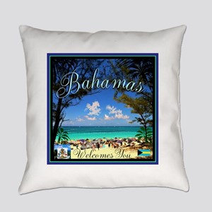 Bahamas Welcomes You Everyday Pillow