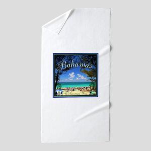 Bahamas Welcomes You Beach Towel