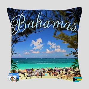 Bahamas Welcomes You Woven Throw Pillow