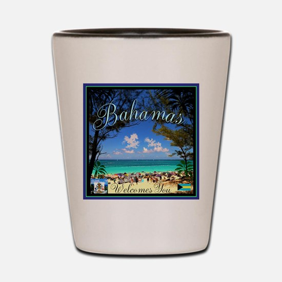 Bahamas Welcomes You Shot Glass