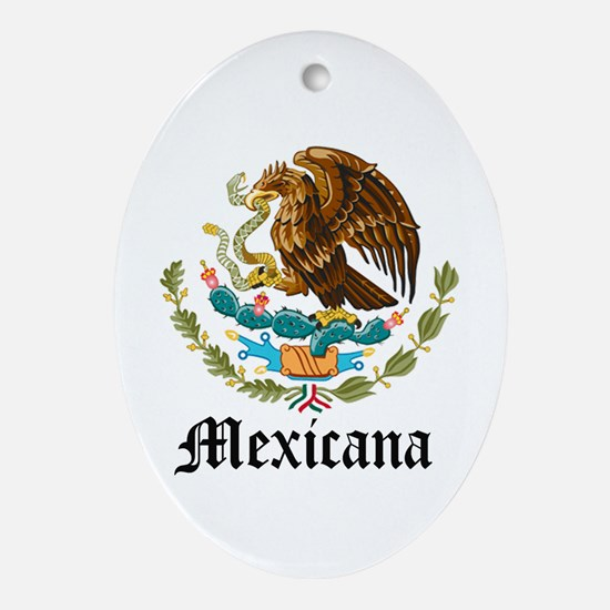 Mexicana Oval Ornament