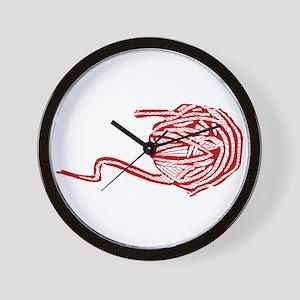 Yarn Ball Wall Clock