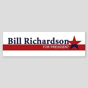 BILL RICHARDSON 2008 Bumper Sticker