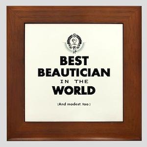 The Best in the World – Beautician Framed Tile
