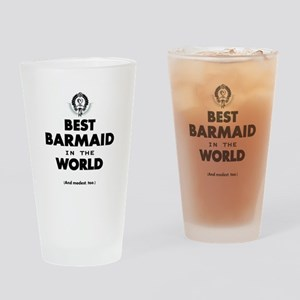 The Best in the World – Barmaid Drinking Glass