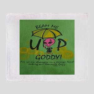 Beam Me Up Goddy! Throw Blanket