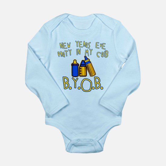 New Year's Party in My Crib Long Sleeve Infant Bod