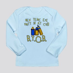 New Year's Party in My Crib Long Sleeve Infant T-S