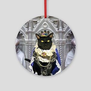 July/Lickycat2/King Licky Round Ornament