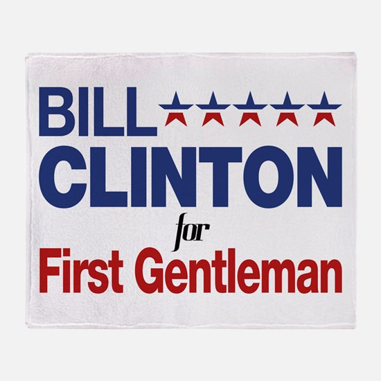 Bill Clinton For First Gentleman Throw Blanket