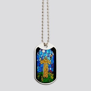 St. Francis Stained Glass Dog Tags