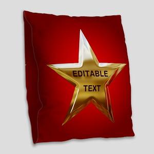 Superstar Burlap Throw Pillow
