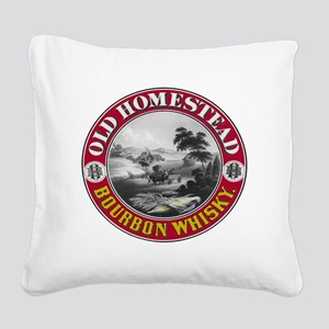 OLD HOMESTEAD BOURBON Square Canvas Pillow