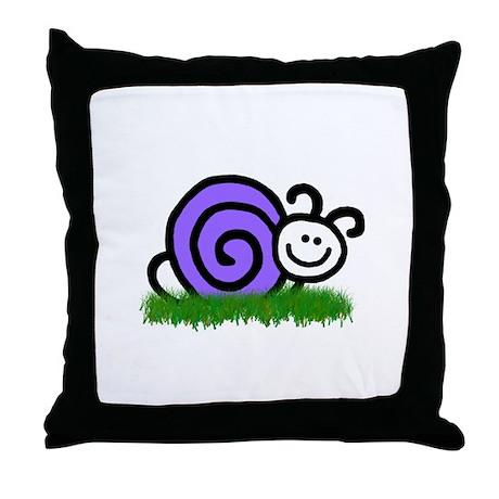 Sam the Snail Throw Pillow